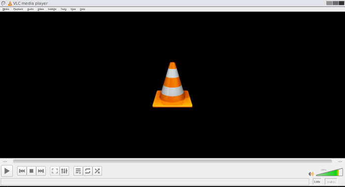 VLC with normal buttons and tiny menus