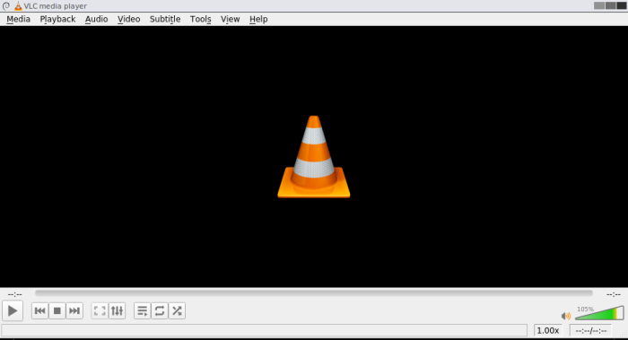 VLC with normal buttons and menus