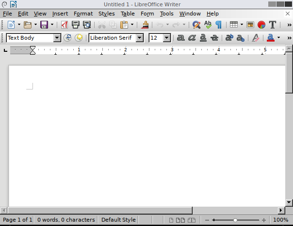 basic interface for libreoffice writer