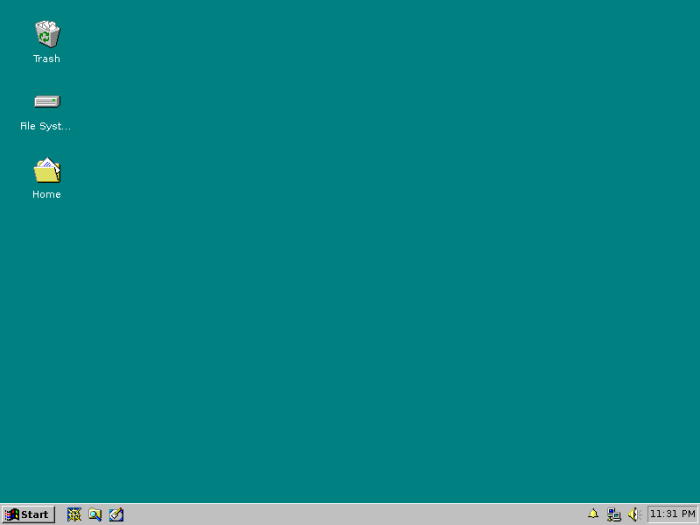screenshot of XFCE with chicago95 theme in use