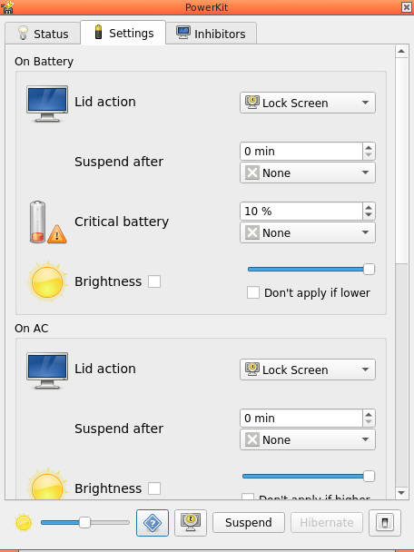 Powerkit settings tab